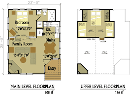 cabins floor plans pretty small house plans with loft custom living brockman more