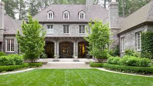 classic garden for a classic house greystone by howard design