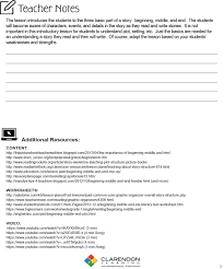Beginner Reader Worksheets Story Structure Clarendon Learning
