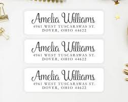 address label etsy