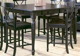 polyurethane leather ladder red amish bar height kitchen table and