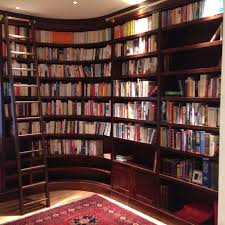 luxurious curved library and bespoke ladder jane bartlett furniture