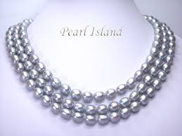 long silver pearl necklace images Prestige 3 strand silver grey freshwater pearl necklace 9 10mm jpg