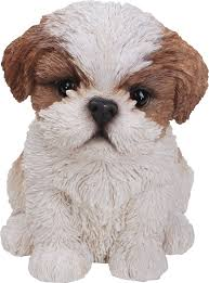 pet pals shih tzu puppy in brown resin garden ornament 9 49