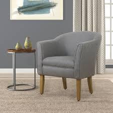 Barrel Accent Chair Homepop Modern Barrel Accent Chair Charcoal Homepop