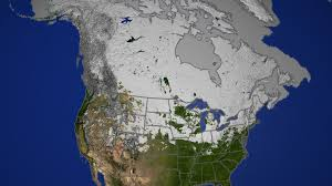 Snow Map Svs Daily Snow Over North America 2002 2003 With Permafrost Map
