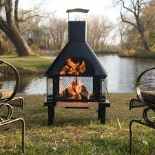 metal fire pit with chimney metal outdoor fireplace round fire pit