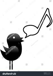tweety bird sings talks music musical stock illustration 42325093