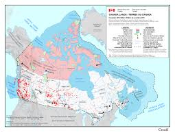 Canada On A Map About Canada Lands Natural Resources Canada