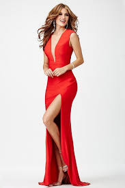 plunging neckline jovani plunging neckline prom dress jvn22575 couturecandy