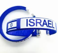 Blue Flag White X 2 X Blue And White Adjustable Bracelet Israeli Flag Jewish Star Of