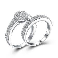 korean wedding rings korean hot sell 925 sterling silver engagement ring set