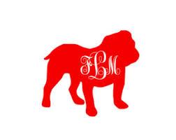 Georgia Bulldog Rugs Bulldog Monogram Etsy
