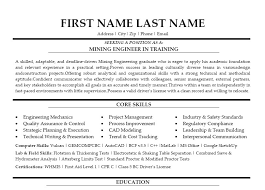 Sample Resumes For Mechanical Engineers by Mining Engineer Sample Resume 21 Metallurgical Engineering Intern