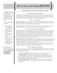How To Do A Work Resume Winning Resumes Free Resume Example And Writing Download