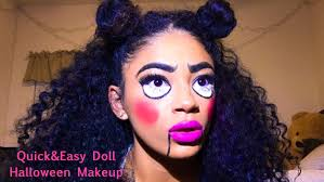 Youtube Halloween Makeup by Easy Doll Halloween Makeup Tutorial Jasmeannnn Youtube