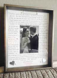 1st anniversary gifts for wedding anniversary gift to my husband our vows written