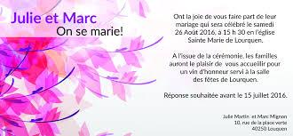 lettre pour mariage invitation faire part mariage fleur