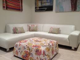Freedom Ottoman by Living Room Floral Fabric Upholstered Rattan Sofa Set With Glass