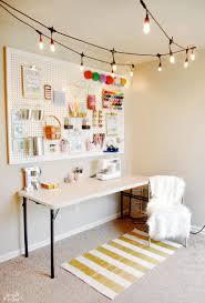 Craft Room Makeovers - craft room makeover with café lights sprinkle some fun
