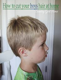 hair under ears cut hair country girl home how to cut your boys hair at home for free