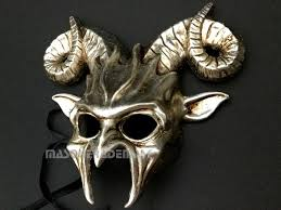 Goat Halloween Costume Goat Horns Masquerade Ball Mask Halloween Costume Haunted House