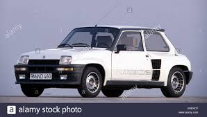 hatchback cars 1980s car renault 5 turbo 2 white model year approx 1982 1980s