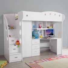 lit combin avec bureau lit combiné avec bureau et rangement couchage 90x190 cm combal for