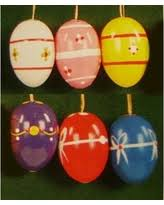 bargains on ten colorful dotted eggs german ornaments made in