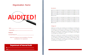 template for audit report 4 audit report templates in ms word pdf formats