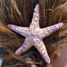 starfish hair clip starfish hair clip purple sliver glitter sea by