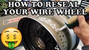 Awesome 13x5 00 6 Tire And Rim How To Reseal Your Wire Wheels Youtube