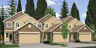 row home plans triplex house plans 4 plex plans quadplex plans fourplex plans