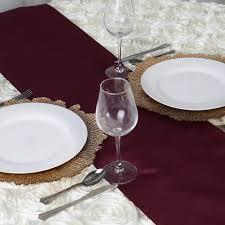 burgundy polyester table runner efavormart