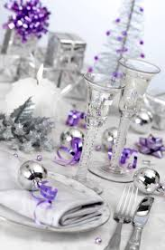 christmas table decoration ideas purple and silver awesome