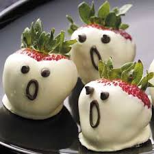 White Chocolate Covered Strawberries Kids Whether You Are Going To Send Your Children Trick Or Treating Or