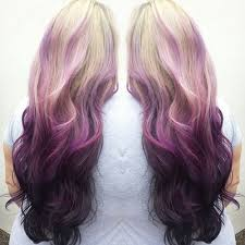 reverse ombre hair photos women mixed color drawstring curly ponytail synthetic hair