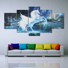 Modern Wall Art Honana Dx 125 5pcs Horse Modern Wall Art Oil Painting Canvas Print