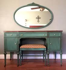 Antique Vanity With Mirror And Bench - antique vanity with mirror and bench teal u2013 eclectic home living