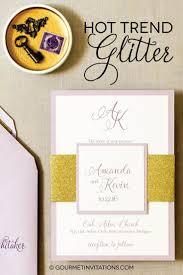 glitter wedding invitations the trend in invitations