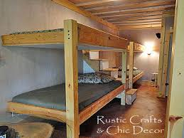 Bunk Bed Plans Pdf Bedroom Wood Bunk Beds Mattress Diy With Stairs