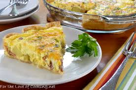 cuisine quiche bacon potato and sharp cheddar quiche for the of cooking