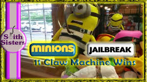 11 claw machine gamer wins the game room minions