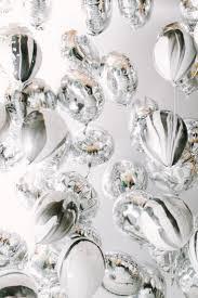 metallic balloons silver marbled balloon ceiling party balloon