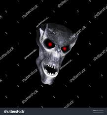halloween skull textured skull sharp teeth stock illustration