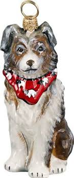 custom handpainted australian shepherd ornament 21 00