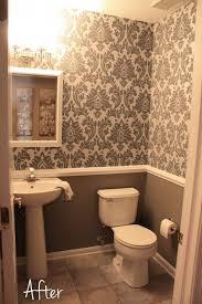 bathroom with wallpaper ideas bathroom bathroom small downstairs bathroom like the wallpaper