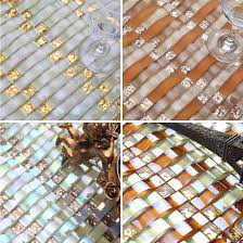 aliexpress com buy iridescent gold arch crystal mosaic glass