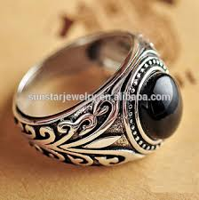 silver rings vintage images Vintage silver black onyx man ring black stone ring for men buy jpg