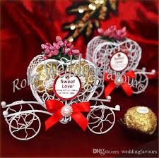 cheap personalized party favors personalized metal heart carriage candy boxes finished products